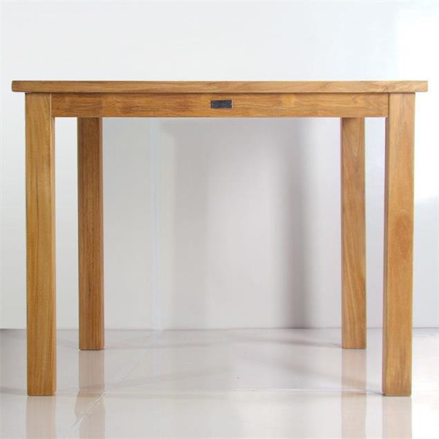 Briston Esstisch 100 x 100 x 76cm Teak mit 6x6 cm Tischbeinen