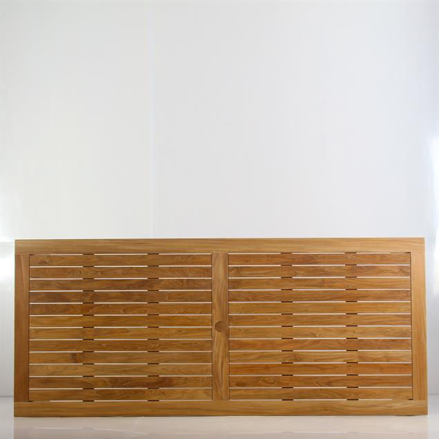 Briston Esstisch 220 x 100 x 76cm zertfizertes Teak Grade A mit 6x6 cm Tischbeinen