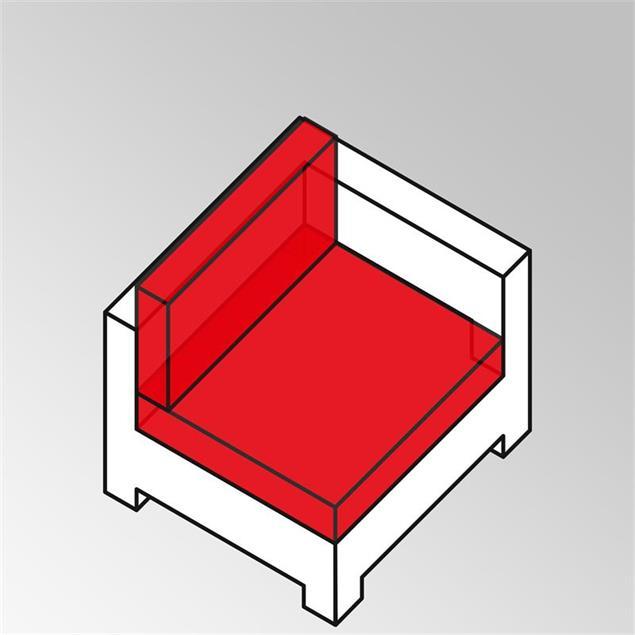 FLEXILounge Polsterset 2tlg Eck- und Mittelmodul 13 cm dick Nagata auch für Seitenmodul