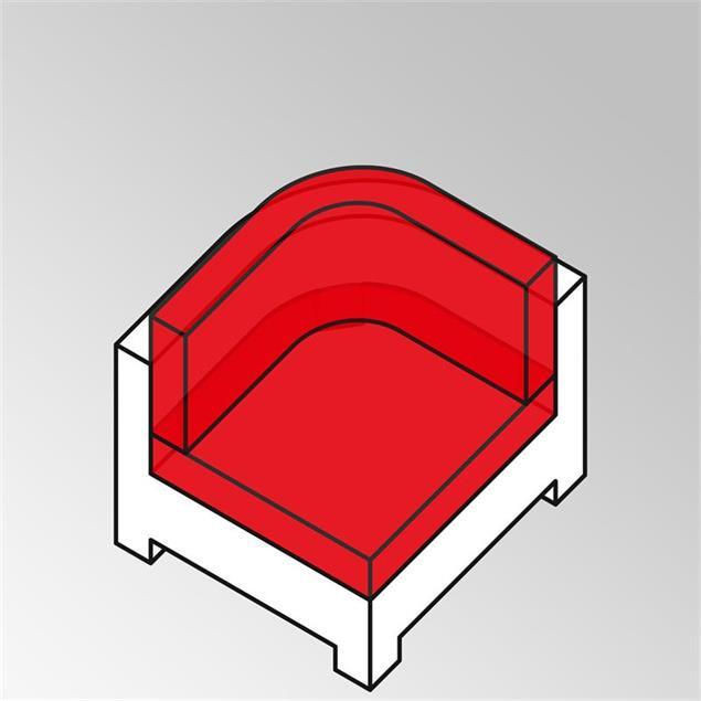 FLEXI Lounge Rundeckmodul 95x95x65 cm Geflecht Lounge