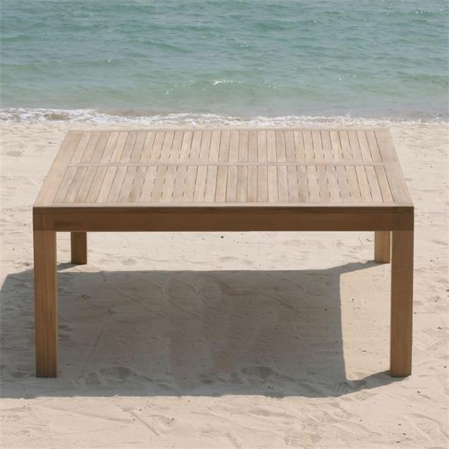 Hampton Esstisch 150 x 150 x 76 cm Teak mit 9x9 cm Tischbeinen mit Höhenverstellung