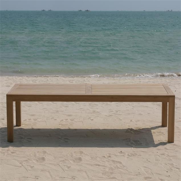 Hampton Esstisch 300 x 110 x 76cm Teak mit 9x9 cm Tischbeinen mit Höhenverstellung