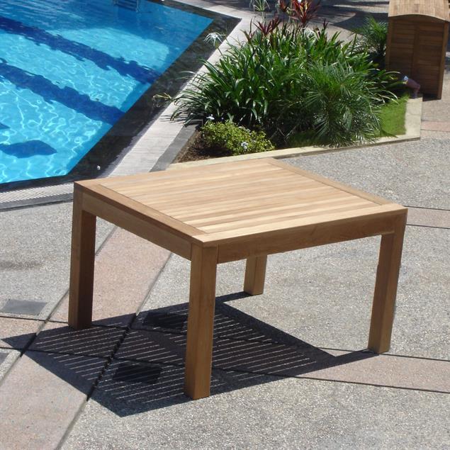 Hampton Esstisch 85 x 85 x 76cm Teak mit 9x9 cm Tischbeinen mit Höhenverstellung