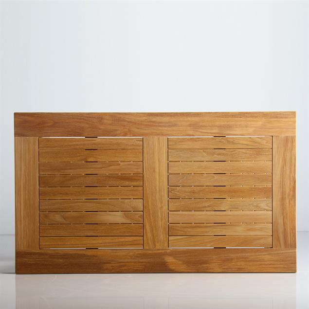 Briston Sofatisch 105 x 60cm mit Ablage zertfizertes Teak Grade A mit 6x6 cm Tischbeinen