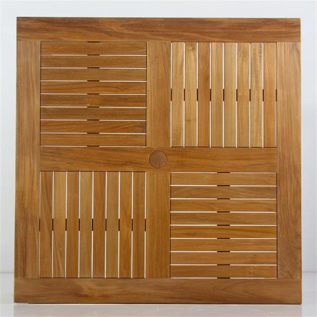 Briston Sofatisch quadratisch 105 x 105cm Teak mit 6x6 cm Tischbeinen