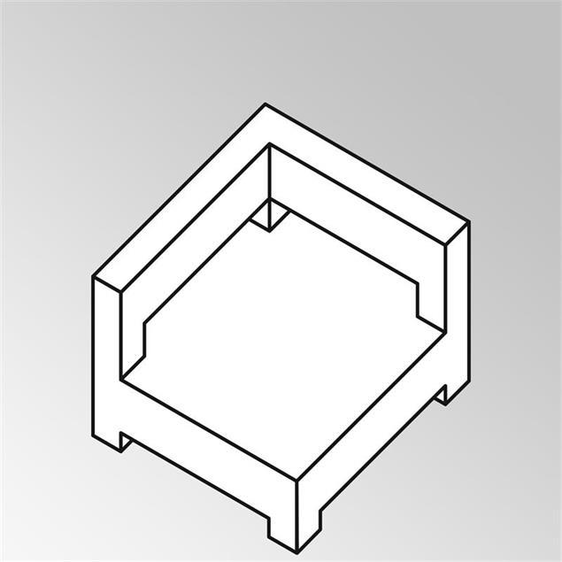 FLEXILounge Eckkissenerweiterung 13 cm dick Sunproof