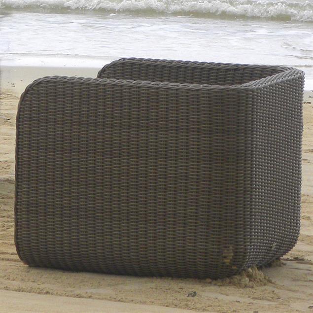 Kubu Lounge Sessel Kubu Geflecht 6mm