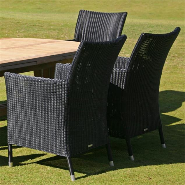 Lorraine Stuhl mit Armlehne Sitzkissen Standard 49 cm tief