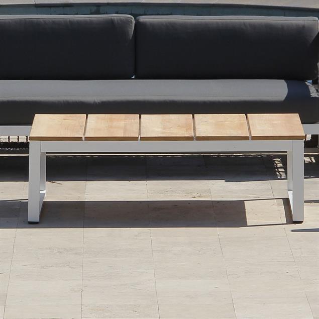 Bowline Sofatisch  124,5 x 85 x 40 cm Teak mit Aluminium