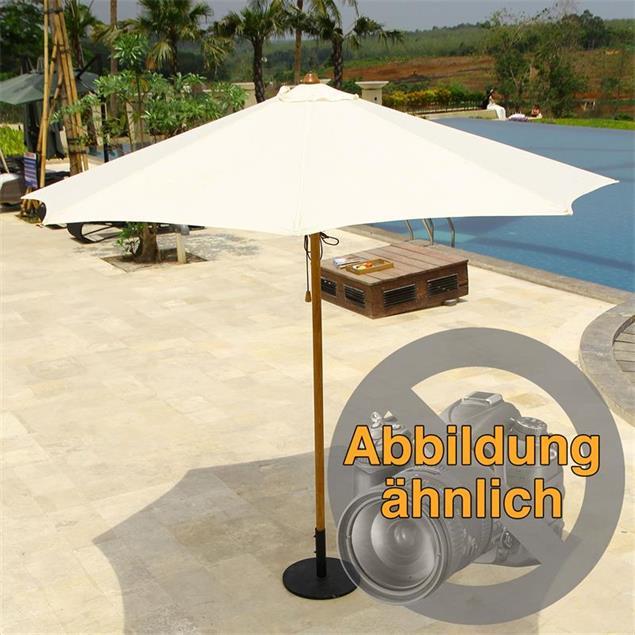 Sonnenschirm Ocean Deluxe 250x250 cm Nagata Teak mit Edelstahlbeschlägen und 3fach-Flaschenzug