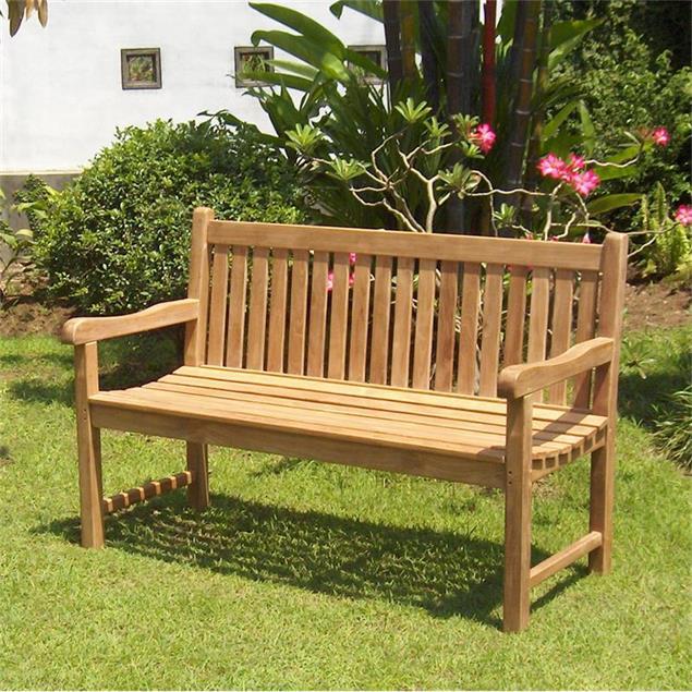 Royal Classic Gartenbank 150 cm - Zertifiziertes Teakholz GRADE A