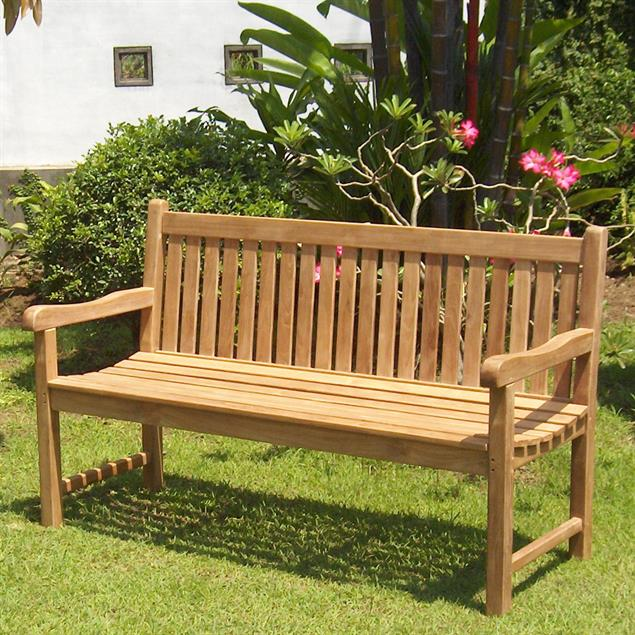 Royal Classic Gartenbank 160 cm - Zertifiziertes Teakholz GRADE A