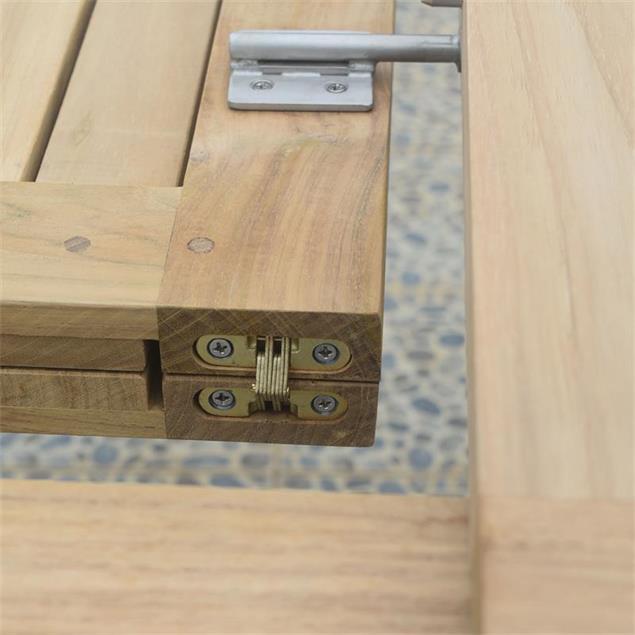 Verdon Doppelausziehtisch 240/200/160x100x76 cm - Zertifiziertes Teak GRADE A + Edelstahlbeschläge