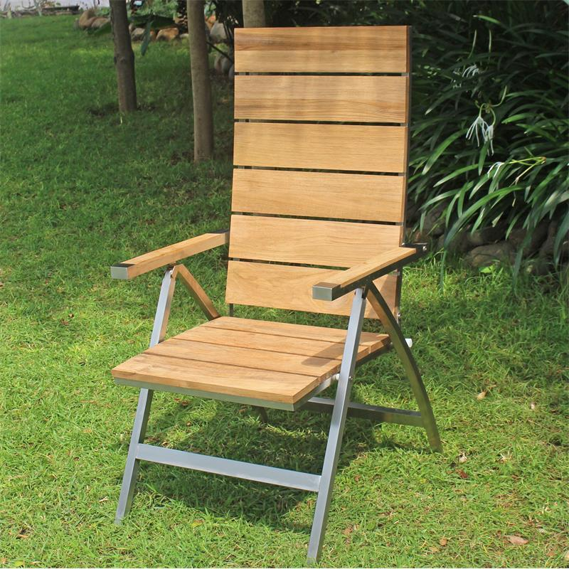 2x Gartenstuhl Hochlehner Gartensessel Stuhl Gartenmöbel Sessel Holz Polyrattan